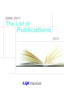 The List of Publications 2009-2011 cover image